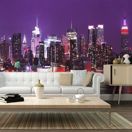 Fototapeta - Tęcza świateł - Nowy Jork