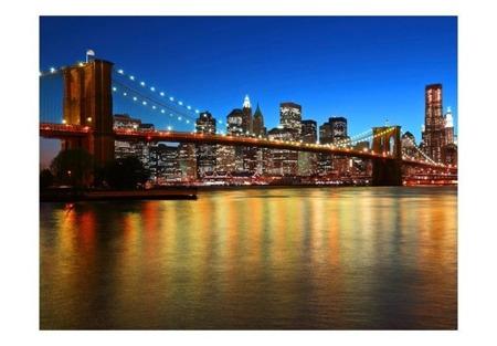 Fototapeta - Zmierzch nad Mostem Brooklińskim