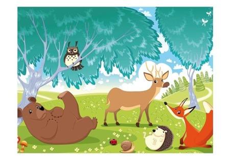 Fototapeta - Zwierzęta z Zielonego Lasu