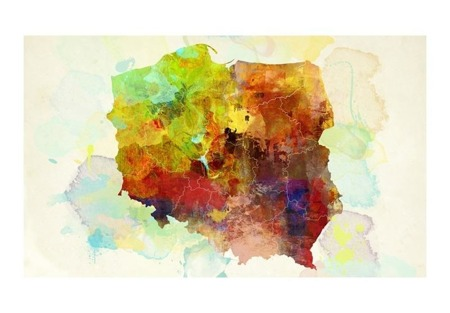 Fototapeta - mapa (Polska)