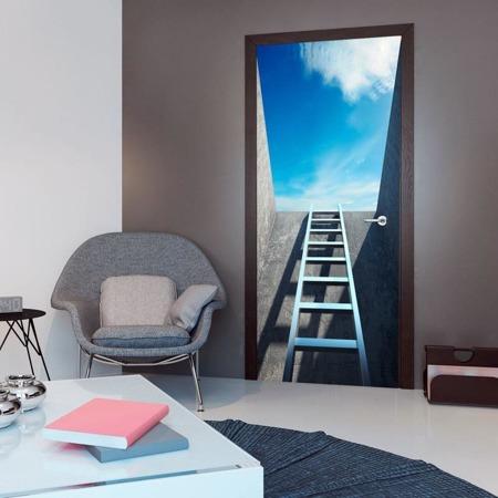 Fototapeta na drzwi - Tapeta na drzwi - Drabina do nieba