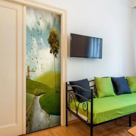 Fototapeta na drzwi - Wiejski pejzaż