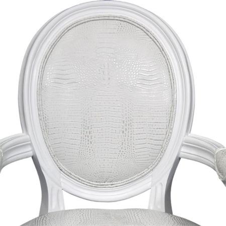 Krzesło Białe Z Podłokietnikami