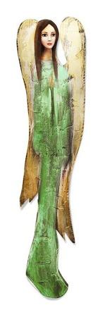 """Obraz """"Anioły"""" ręcznie malowany 98x22cm"""