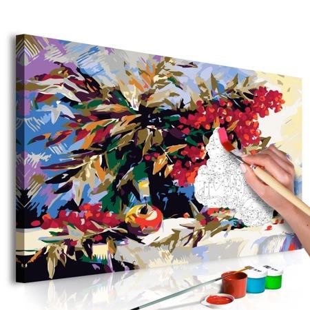 Obraz do samodzielnego malowania - Jarzębina (martwa natura)