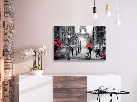 Obraz do samodzielnego malowania - Zakochani w Paryżu