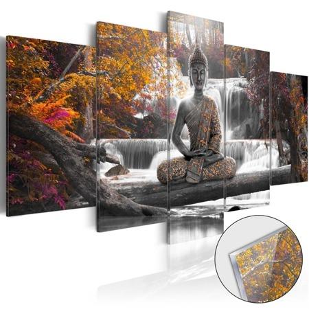 Obraz na szkle akrylowym - Jesienny Budda [Glass]