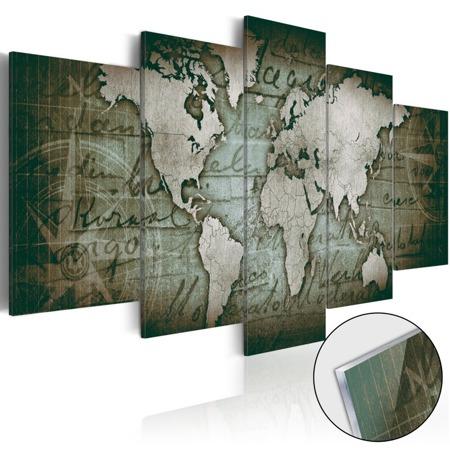Obraz na szkle akrylowym - Plexi: Mapa retro