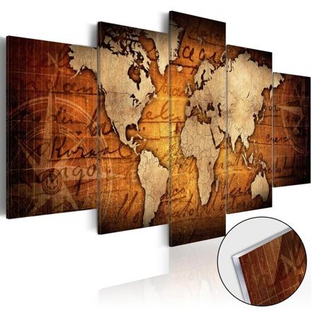 Obraz na szkle akrylowym - Plexi: brązowa mapa