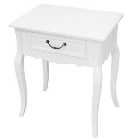 Szafka stylowa półka nocna drewno biały